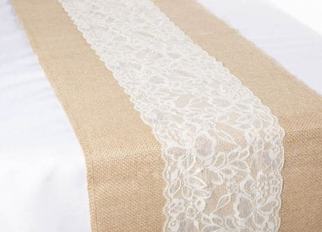 Lace & Hessian Runner