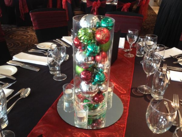 Red, Green and Silver Christmas Baubles