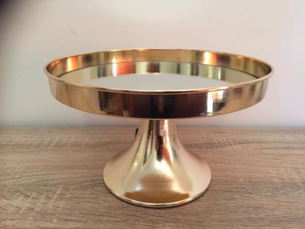 gold cake stand single tier 30cm