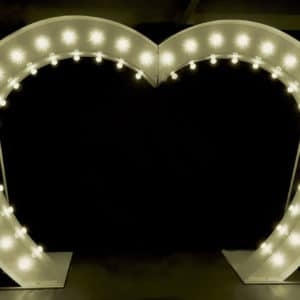 Light Up Love Heart Arch