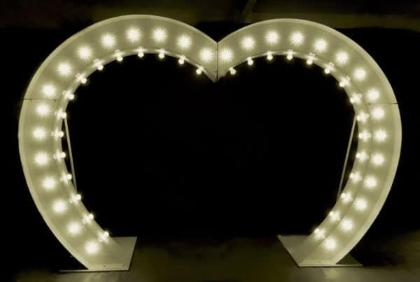 Light Up Love Heart Arch