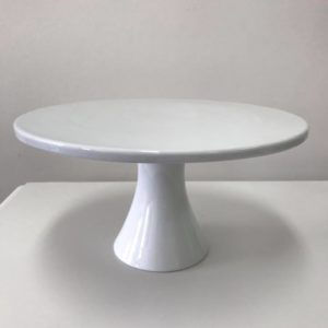 white cake stand single tier