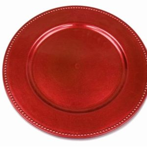 Charger Plate - Red 33cm