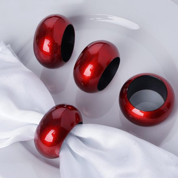 Red Napkin Rings