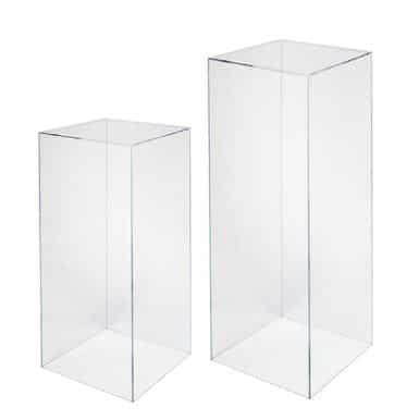 Clear Plinths Pedestals Stands