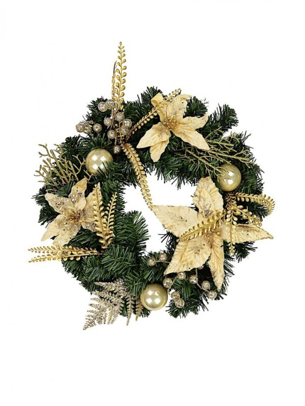 Gold and Champage Wreath