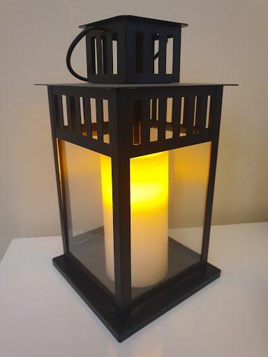 Black Lantern with LED