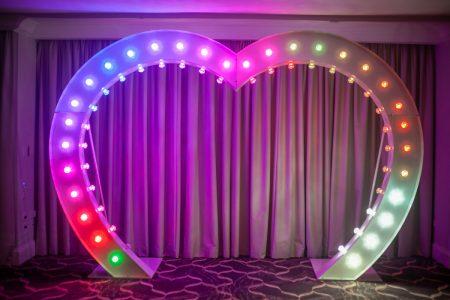 Light Up Heart Arch RGB Colour