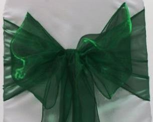 Oganza Chair Sash - Emerald Green