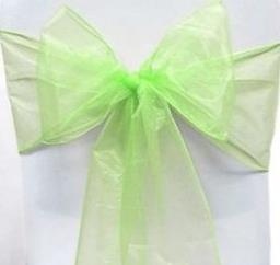 Organza Chair Sash - Apple Lime Green