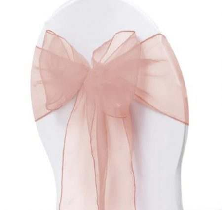 Organza Chair Sash - Blush