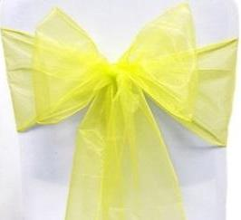 Organza Chair Sash - Bright Sun Yellow