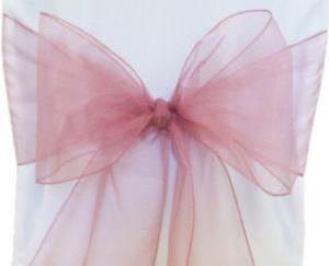 Organza Chair Sash - Dusty Pink