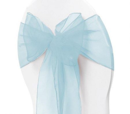 Organza Chair Sash - Light Blue