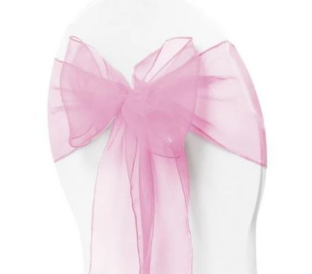 Organza Chair Sash - Light Pink