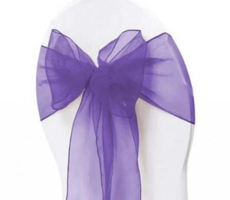 Organza Chair Sash - Mid Purple
