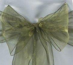 Organza Chair Sash - Military Green