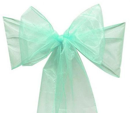 Organza Chair Sash - Tiffany Green Mint
