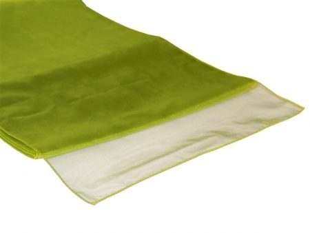 Organza Table Runner - Olive Green
