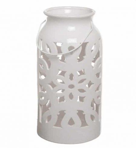 White Lantern Wedding Aisle Decor