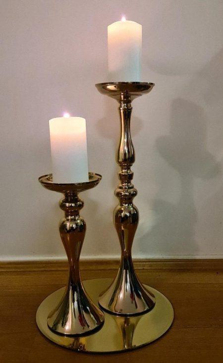 Gold Candlestick Pair