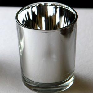 Silver Mirror Tealight Holder