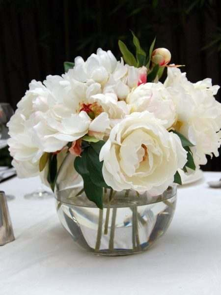 Small Glass Posy Vase Floral Centrepiece