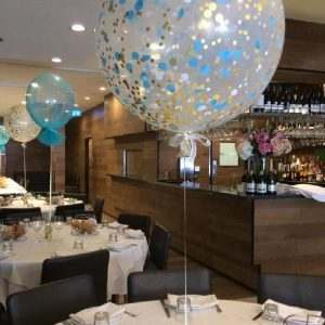 60cm confetti balloon table arrangement