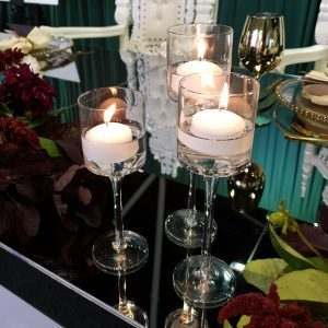Floating Candle Trio on bridal table