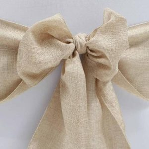 Hessian Rustic Chair Sash