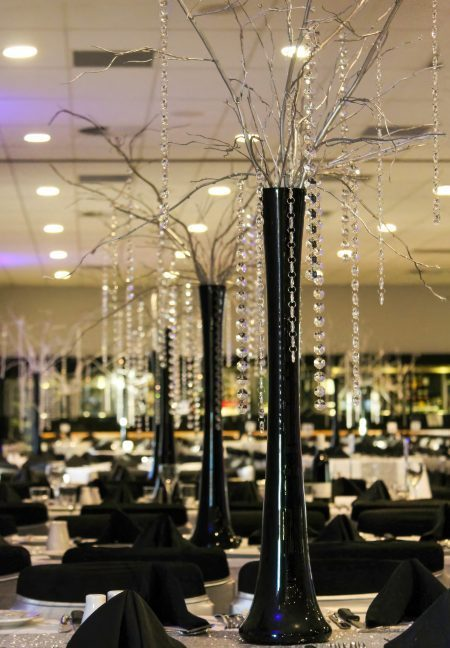 Silver Willow with Hanging Crystals