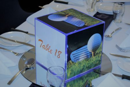 Single Branded Corporate Centrepiece Cube