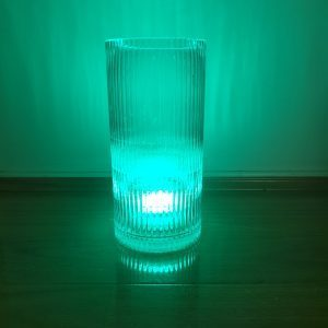 Smoky Vase with Coloured Green Light