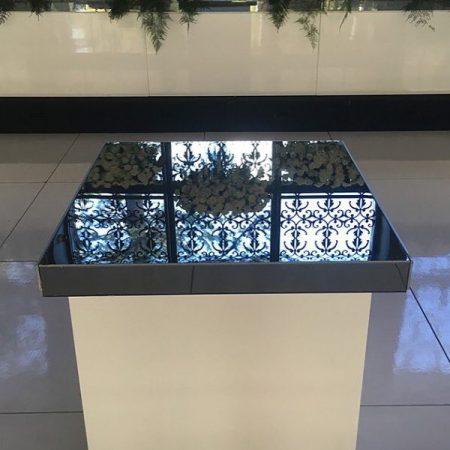 White Mirror Cake Table