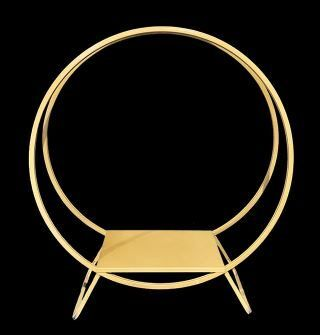 Gold Cake Hoop Ring Stand